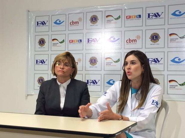 Liana Ventura e Camila Ventura, médicas da Fundação Altino Ventura, no Recife (Foto: Thays Estarque/G1)