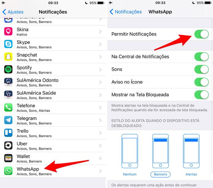 Desative a notificação de um app no iPhone (Foto: Reprodução/Lucas Mendes)