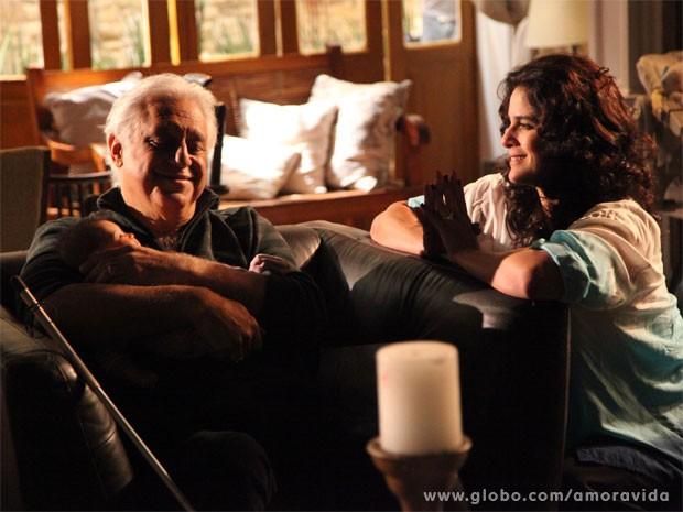 César e Mariah tem conversa amigavel (Foto: Ellen Soares/ TV Globo)