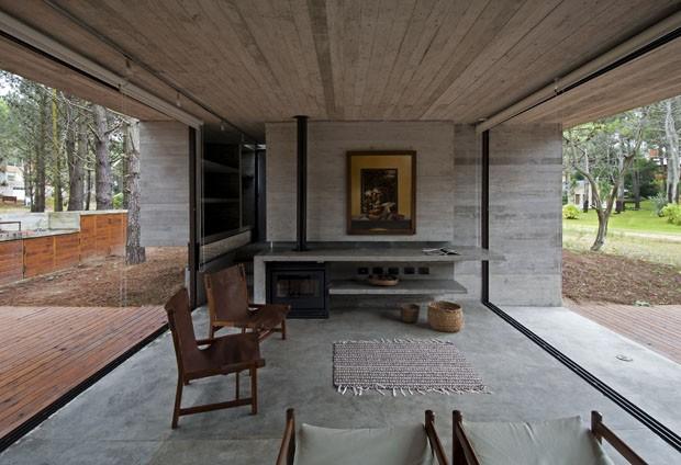 Concreto e vidro na casa de veraneio casa vogue casas for Casas de cemento