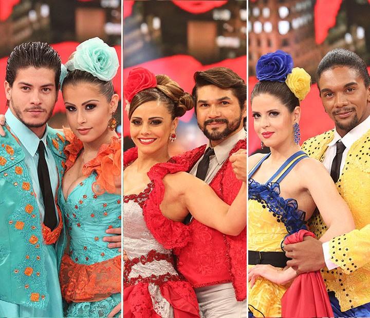 Arthur Aguiar, Viviane Araújo e Mariana Santos sãi finalistas do 'Dança' (Foto: Carol Caminha/Gshow)