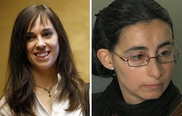 A pianista espanhola Laia Martin (à esq.) foi processada pela vizinha Sonia Bossoms por poluição sonora (Foto: AFP e Reprodução/RTVE)