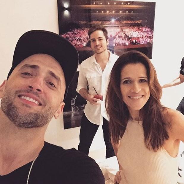 Paulo Gustavo, Thales Bretas e Ingrid Guimarães em festa (Foto: Instagram/ Reprodução)