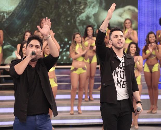 Jorge e Mateus (Foto: Domingão do Faustão / TV Globo)