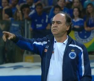 Marcelo Oliveira comandou o Cruzeiro na partida contra o Corinthians (Foto: Reprodução/Sportv)