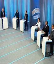 Candidatos  debatem ideias na TV Bahia (Reprodução/TV Bahia)