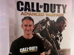 Brett Robbins, diretor de criação de 'Call of Duty: Advanced Warfare' (Foto: Bruno Araujo/G1)