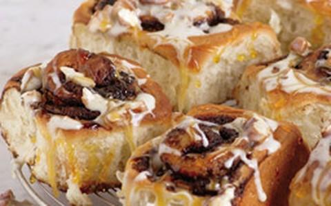 Rolinhos de pão de canela