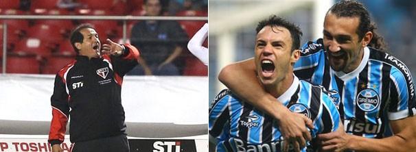 montagem gremio e sp 606 (Foto: Rubens Chiri / saopaulofc.net / Lucas Uebel / Grêmio FBPA)