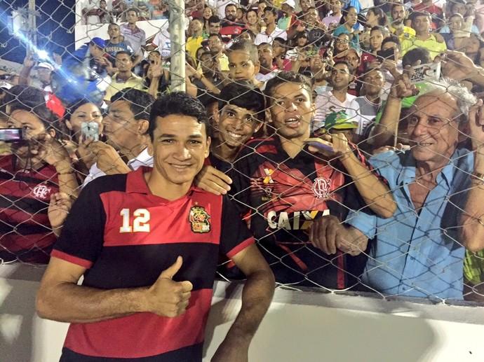Angelim Flamengo Salgueiro (Foto: Cahê Mota / GloboEsporte.com)