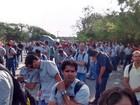 Funcionários da Samarco fazem novo protesto por volta de empresa
