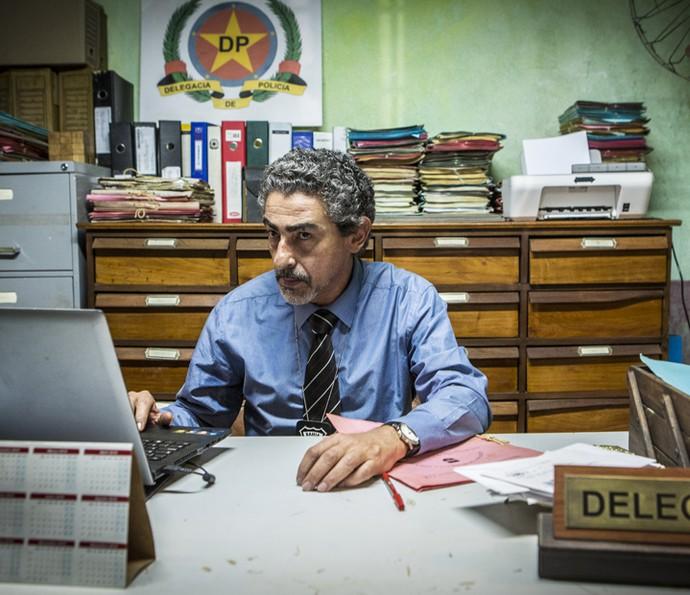 Delegado Germano tem suspeito número um (Foto: Inácio Moraes/Gshow)