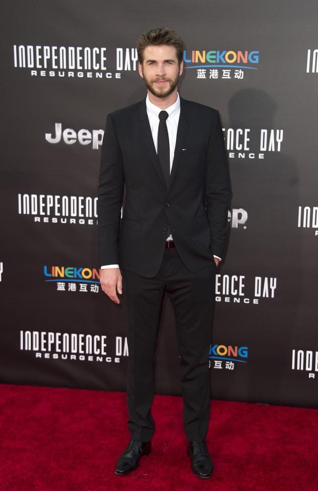 Liam Hemsworth em première em Los Angeles, nos Estados Unidos (Foto: Valerie Macon/ AFP)