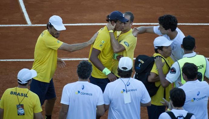 copa davis Feijão X Mayer tenis (Foto: AFP)
