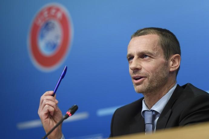 Aleksander Ceferin, presidente da Uefa (Foto: Martial Trezzini/Keystone via AP)