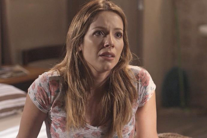 A atriz está de volta e já rodou cenas de sua personagem, Sirlene (Foto: TV Globo)