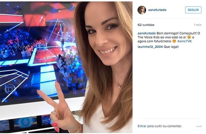 Ana Furtado posta sobre The Voice Kids (Foto: Gshow)