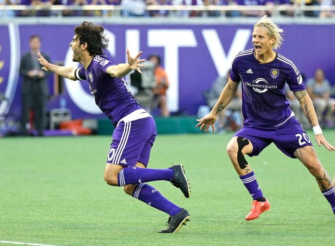 Kaka comemora gol do Orlando City contra o New York (Foto: Agência AP )