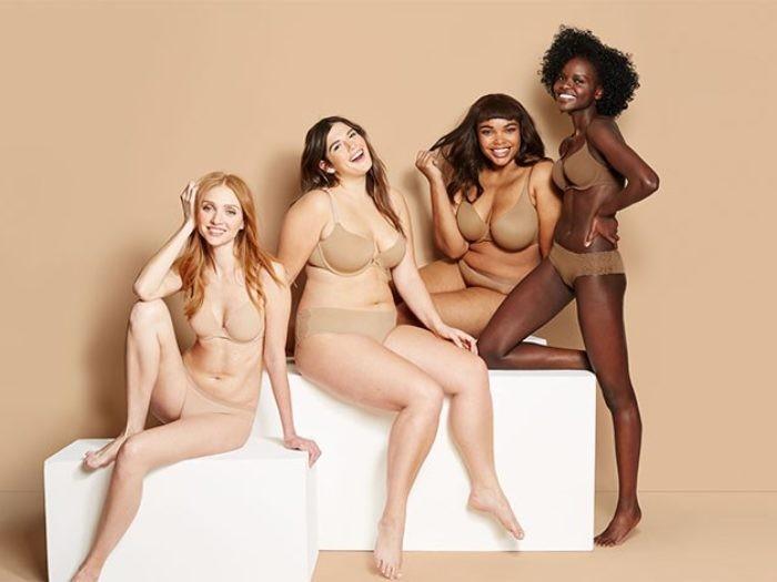 Vários tons de nude na nova linha de lingerie da Target (Foto: Reprodução)