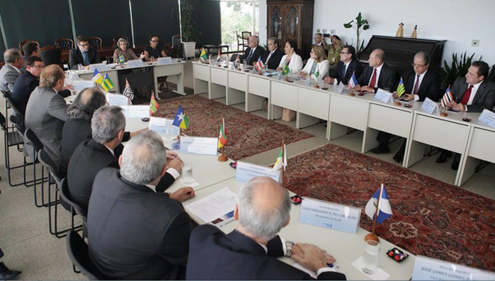 Reunião entre a presidente do STF, Cármen Lúcia, e desembargadores de todo o país (Foto: Nelson Jr./SCO/STF)