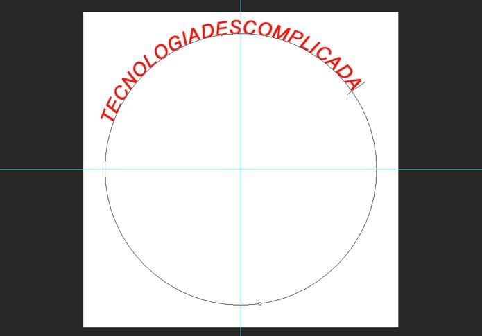 Frase aplicada sobre o demarcador (Foto: Reprodução/André Sugai)