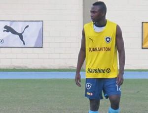 Sassá, treino Botafogo (Foto: Thales Soares / Globoesporte.com)