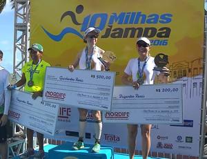 10 milhas de Jampa, corrida de rua, Evelina Shamarova, pódio (Foto: Reprodução / TV Cabo Branco)