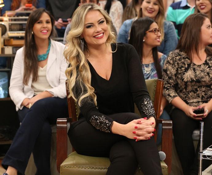 Ellen Rocche participa da gravação do programa Altas Horas (Foto: Carol Caminha/Gshow)