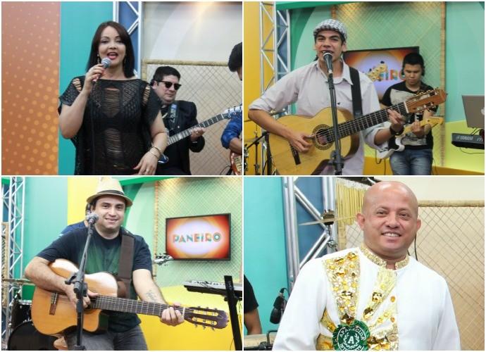 Sambistas passaram pelo palco do 'Paneiro' (Foto: Katiúscia Monteiro/ Rede Amazônica; Onofre Martins/ Rede Amazônica)