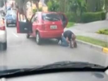 Policial algema a namorada antes de matá-la com quatro tiros (Foto: João Carlos Frigério)