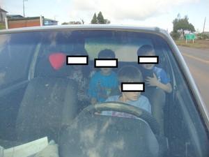 Pai da criança responderá criminalmente (Foto: PRF SC/Divulgação)