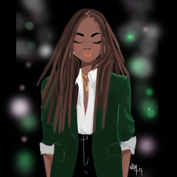 Nicholle Kobi: mulheres negras são sempre inspiradoras (Foto: Reprodução Instagram)