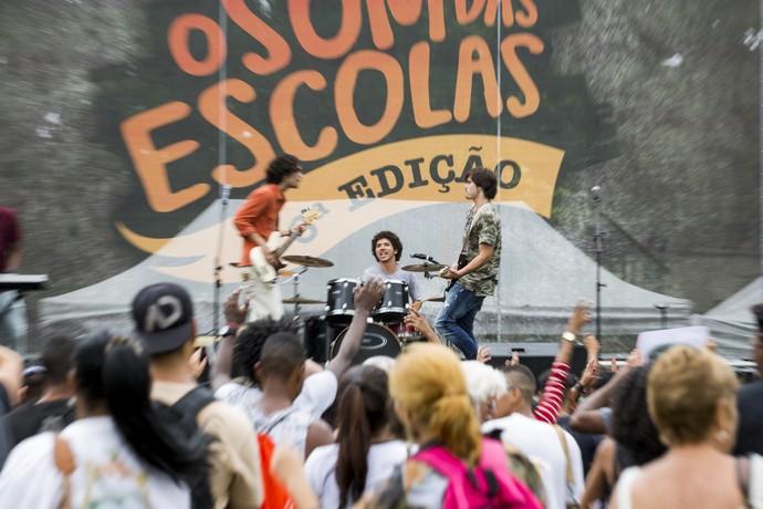 Banda 4.4 se apresenta em festival (Foto: Ellen Soares / Gshow)
