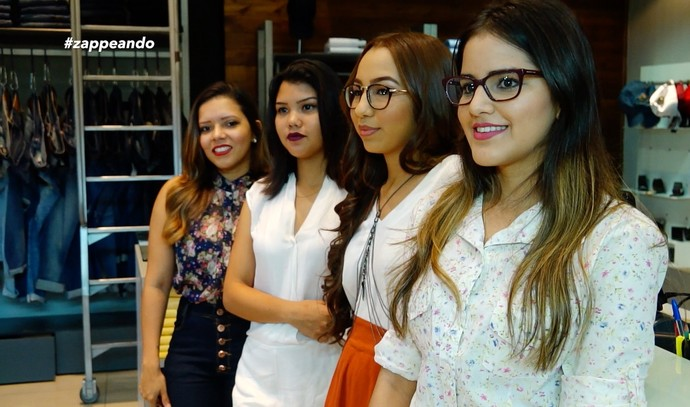 Candidatas esbanjam estilo em desafio de moda do 'Zapp' (Foto: Rede Amazônica)