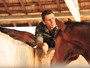 Murilo Rosa já é expert em cavalos (Foto: João Miguel Jr. / Rede Globo)