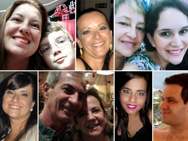 Montagem das vítimas da chacina em Campinas (Foto: Patrícia Teixeira / G1)