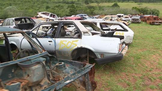 Ação interdita desmanche e recolhe 20 carcaças de carros em Alvorada