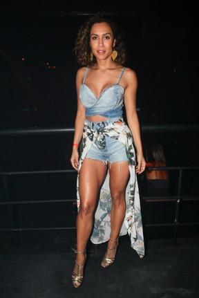Ex-BBB Lia Khey em show em São Paulo (Foto: Manuela Scarpa/ Brazil News)