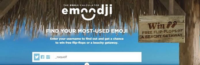Emoodji com nome de usuário do Twitter inserido (Foto: Reprodução/Raquel Freire)