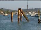 Prefeitura e Inea retiram estacas irregulares em praia de Búzios, no RJ