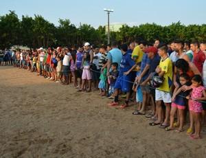 Torcida presente na final da Super Copa Genus (Foto: Ivanete Damasceno / GloboEsporte.com/ro)