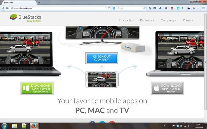 BlueStacks é o emulador do Android para PC que permite baixar muitos jogos (Foto: Reprodução / Dario Coutinho)