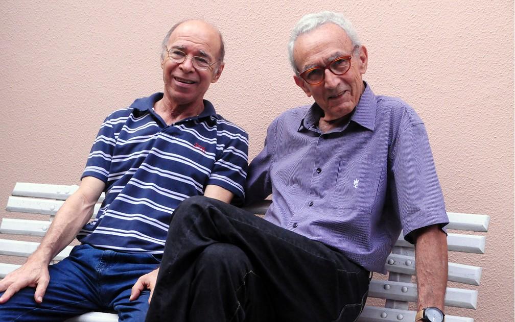 Alcides Maiorino e Omar Rodrigues, em Campinas  (Foto: Luciano Calafiori)