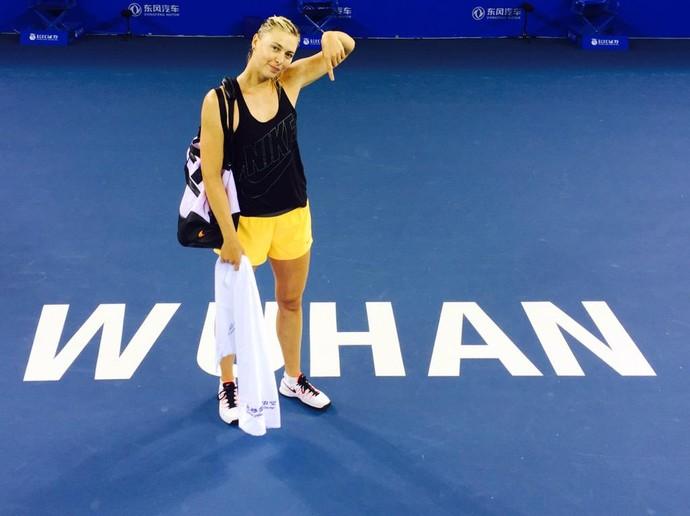 Maria Sharapova, Wuhan (Foto: Reprodução / Twitter)
