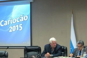 Rubens Lopes sorteio Carioca 2015 (Foto: Hector Werlang)