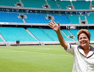 Dilma inauguração Fonte Nova estádio (Foto: Roberto Stuckert Filho )