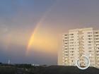 Arco-íris duplo chama a atenção de moradores da região; veja fotos