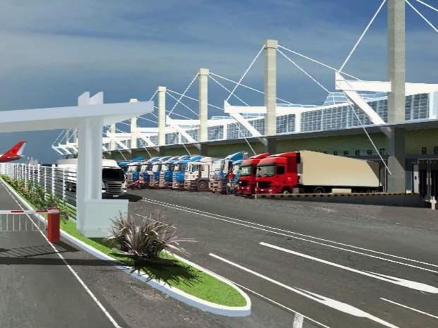 Projeto de aerorpoto de carga que será feito em Pouso Alegre (Foto: Reprodução EPTV)