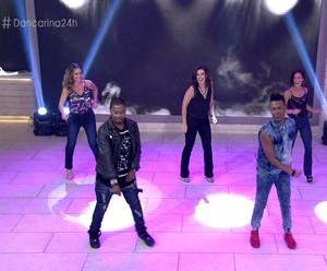 '24 horas por dia': Fátima, Fernanda de Freitas e Juliana Sana dançam hit da Ludmilla (Foto: TV Globo)