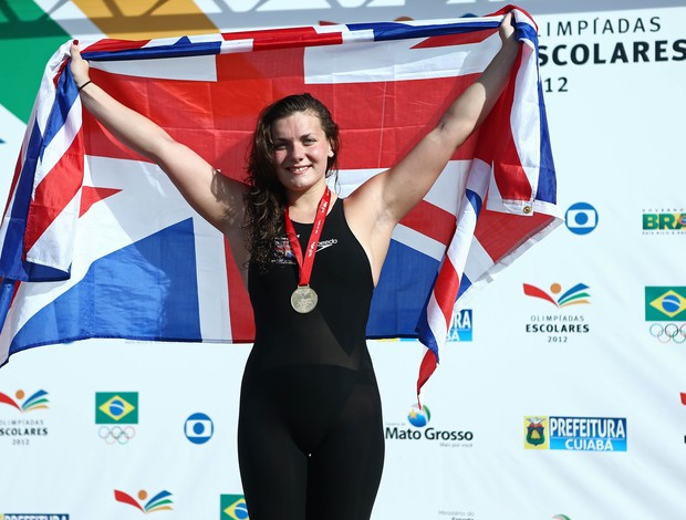 Jessica Ashley Lloyd natação Grã-Bretanha nas Olimpíadas Escolares (Foto: Heuler Andrey/AGIF/COB)